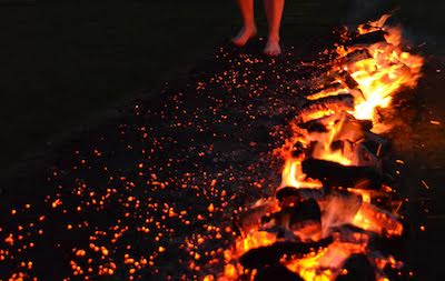 Walking Over Hot Coals for Disability Charity Enham Trust