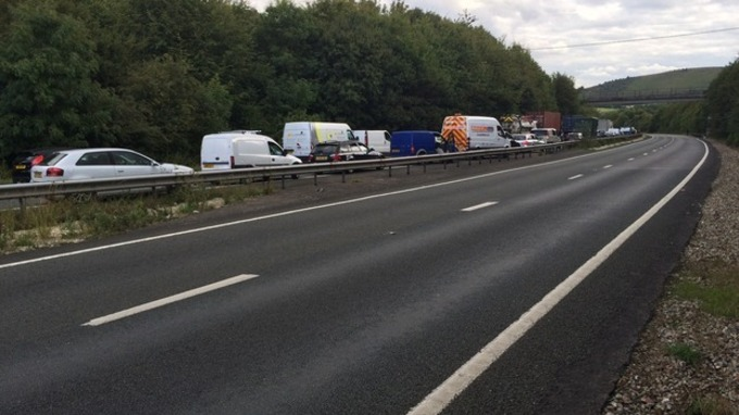 Overturned Motorhome Causing Delays on A34