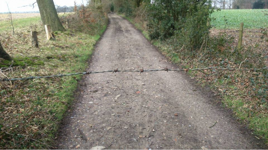 Local News | Barbed Wire Danger to Motorcyclists | Andover & Villages