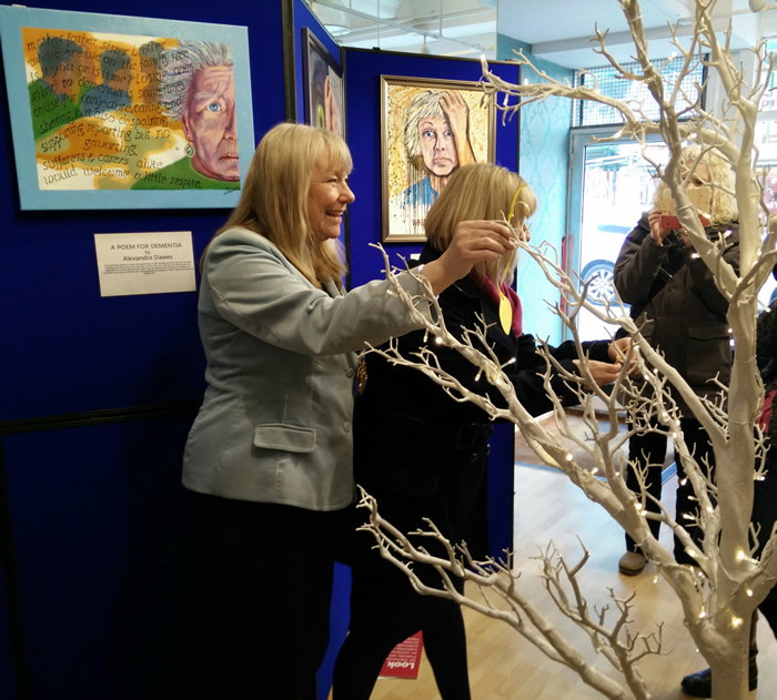 Andover's Dementia Pop Up Exhibition Opened by Mayor