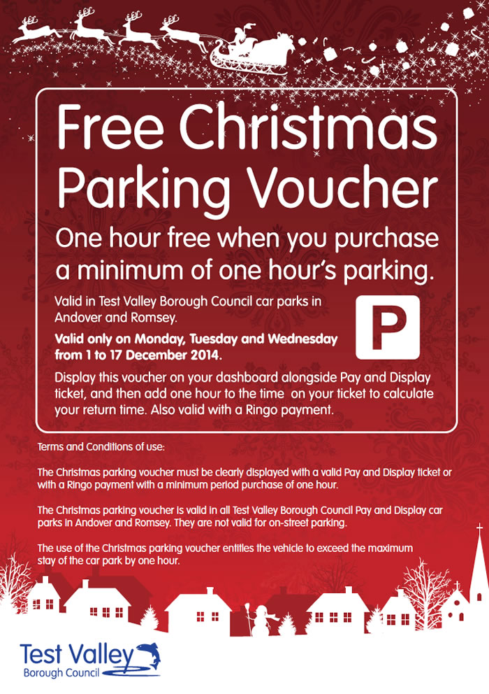 FREE Parking for Andover's Christmas Shoppers