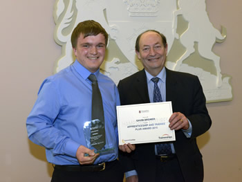 Andover Apprentice Rewarded by County Council
