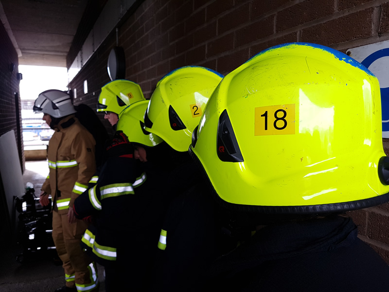 Hampshire News | Female office staff become firefighters for International Women's Day | Andover & Villages