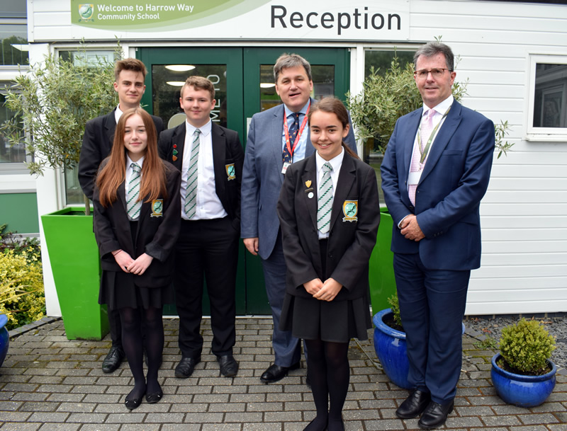 Education News | Students put local MP Kit Malthouse under the spotlight | Andover & Villages