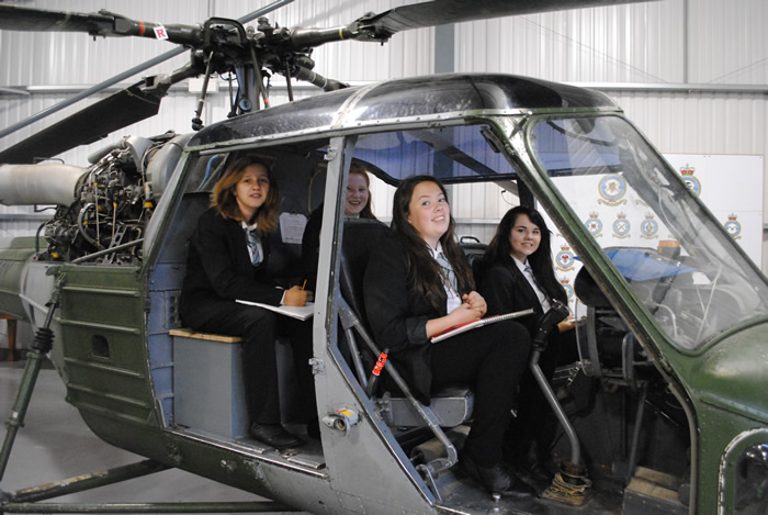 Harrow Way Art students get Mechanimal at the Army Air Museum