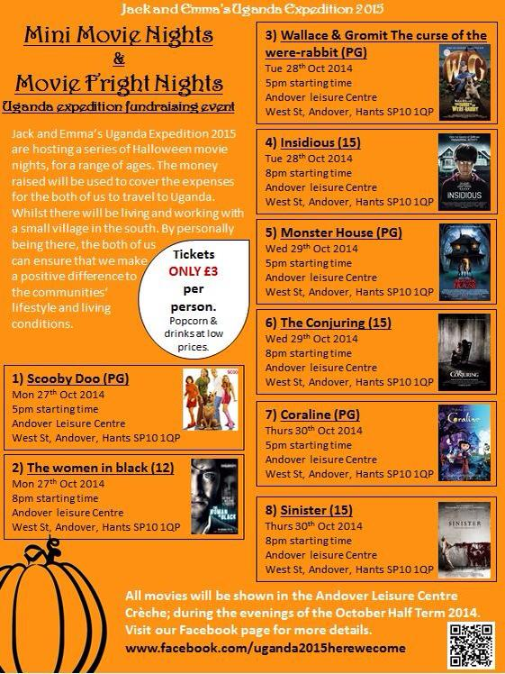 Halloween Movie Nights at Anodver Leisure Centre Raise Funds for Uganda