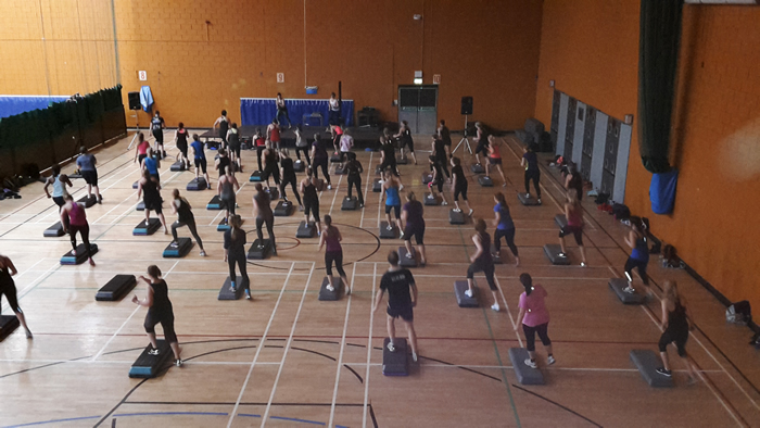 Andover people attack 2015 with high-energy workouts