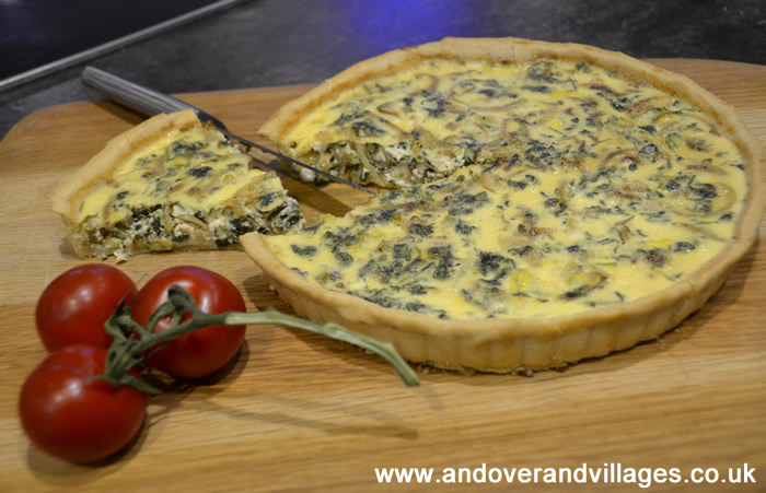 Mama Ruth Recipes | Goats Cheese and Watercress Quiche