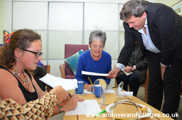 Kit Malthouse Trains as Dementia Friend at Andover Mind