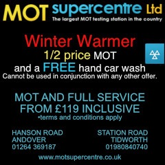 Andover Advertising with MOT Supercentre