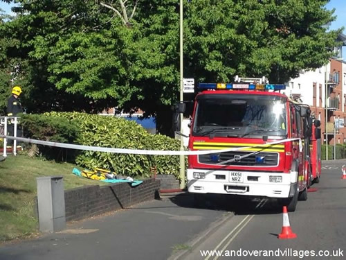 andover, fire, service, tackle, fire, in, warner, court, sheltered, housing