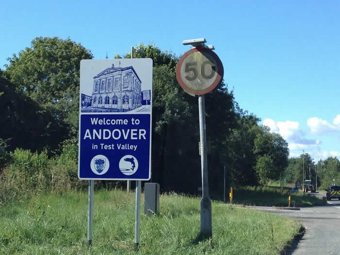 Andover News - Welcome to Andover Signs Erected Across Andover's Boundaries