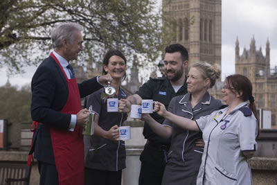 Health News | Dr Hilary Jones Serves Tea to NHS Staff | Andover & Villages