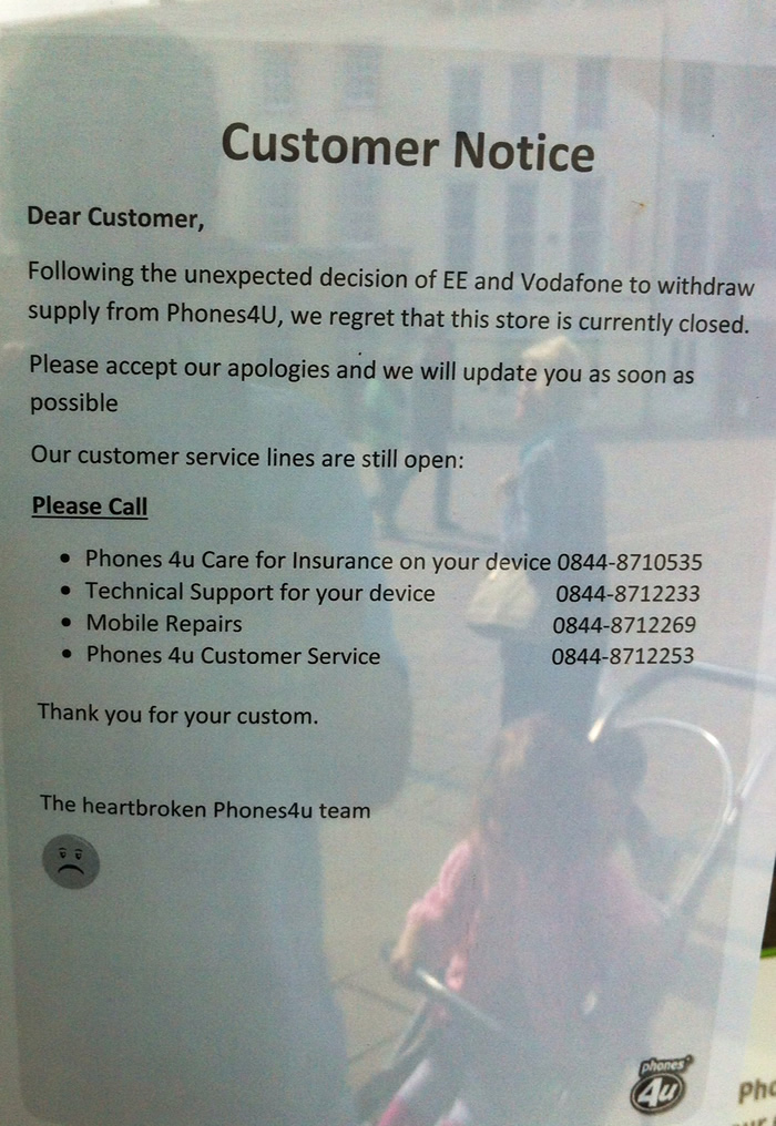 Andover Phones 4U Closes After Company Administration