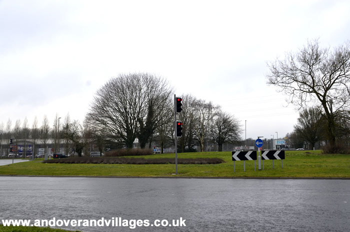Local Andover News | Tesco Roundabout Collision Causes Delays | Andover & Villages