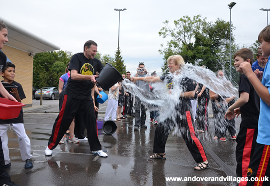 Andover News - Martial Art World do the Ice Bucket Challenge