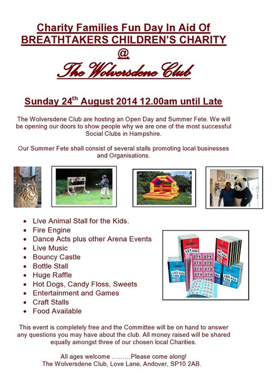 Andover What's On Guide - Breathtakers Family Fun Day - August 2014