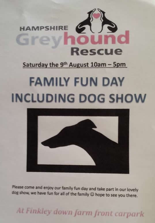 Andover What's On Guide - Greyhound Rescue Family Fun Day