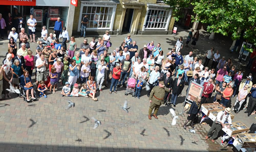 Andover What's On Guide - The Chantry Centre Releases 100 Pigeons to Commemorate WW1