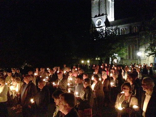 Andover News - St Mary's Church Holds Candlelit Ceremony