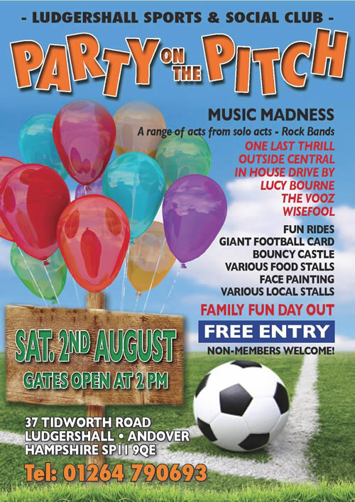 Andover What's On Guide - Ludgershall Party on the Pitch - 02/08/14