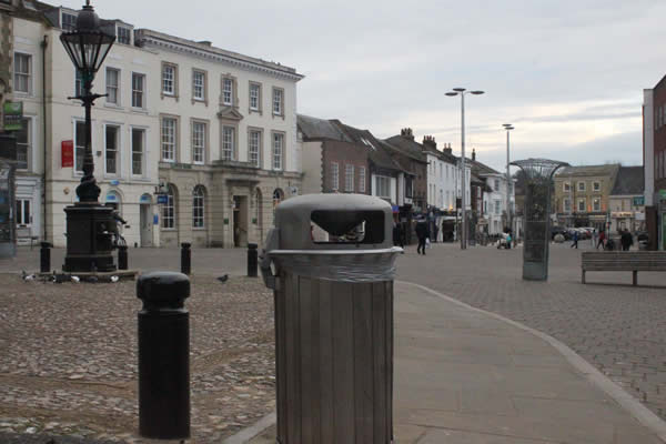 Litter Bin Review in Andover Town Centre