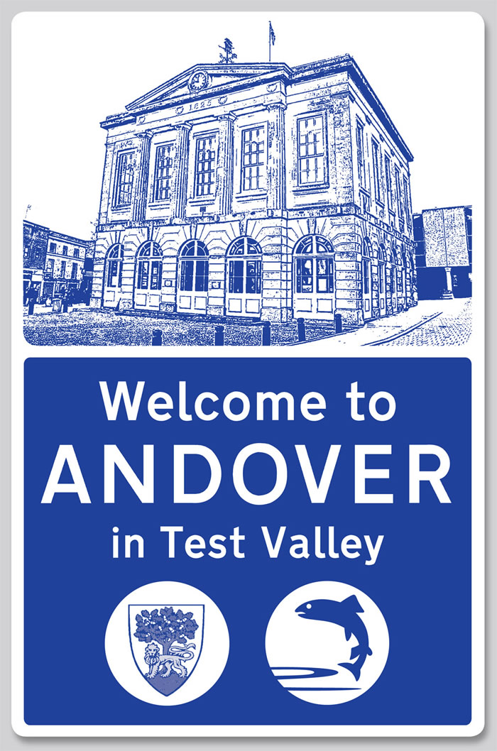 Andover Town Boundary Signs