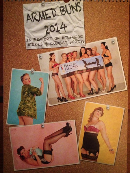 Andover Army Wives Calendar for Help the Heroes and Combat Stress
