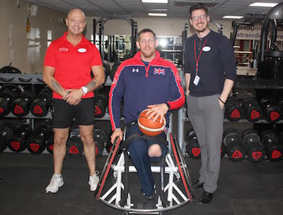 Andover Army Veteran Shooting Hoops as UK Invictus Team Captain