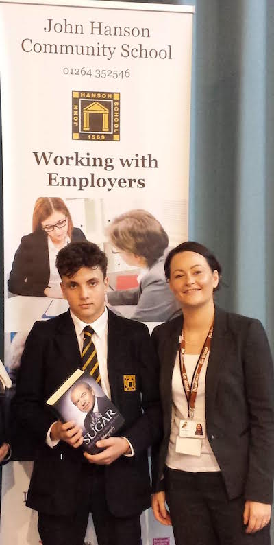 Be Wiser congratulates Bradley Derby from John Hanson Community School