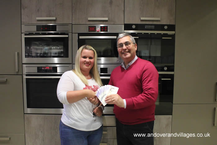 Cooking 2 Cooling Present 'Stick it to Win it' winner with £250 Cash Andover Hampshire