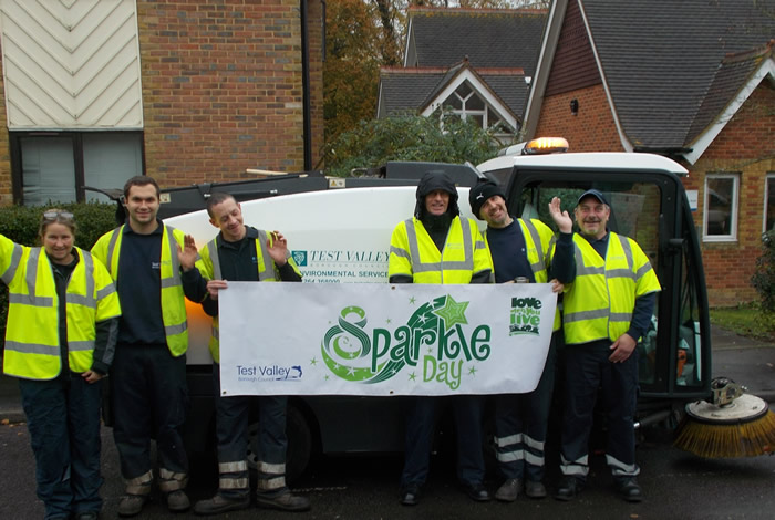 Time to Sparkle with Andover's Environmental Services Team