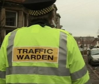 Traffic Wardens in Andover Town Centre