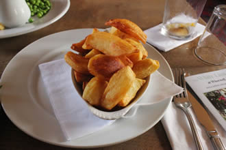 Three Times Cooked Chips at The White Lion Wherwell