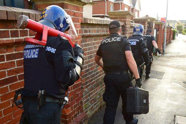 Police Arrests in Andover Drugs Raid
