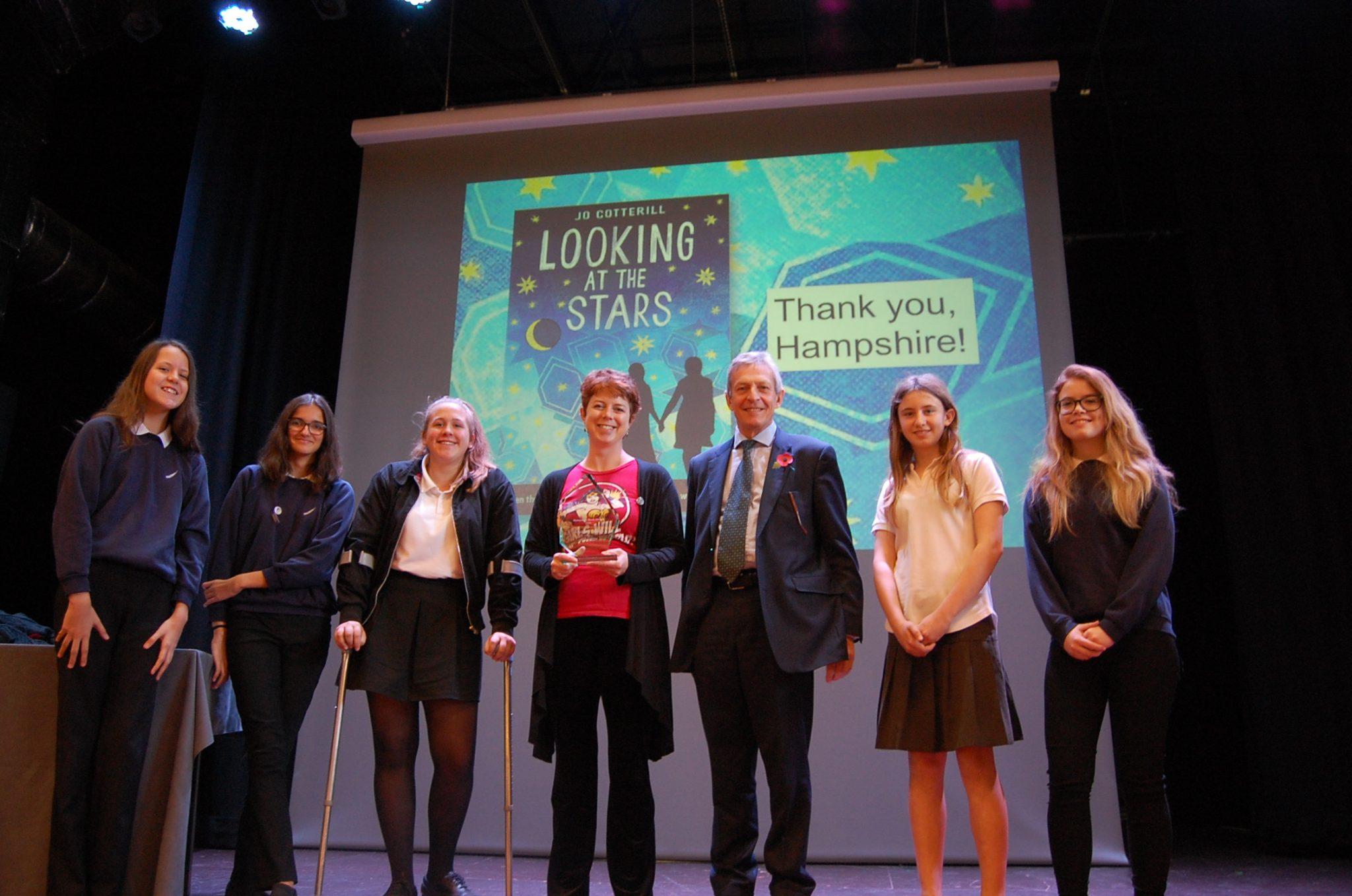 looking at stars author hampshire book award