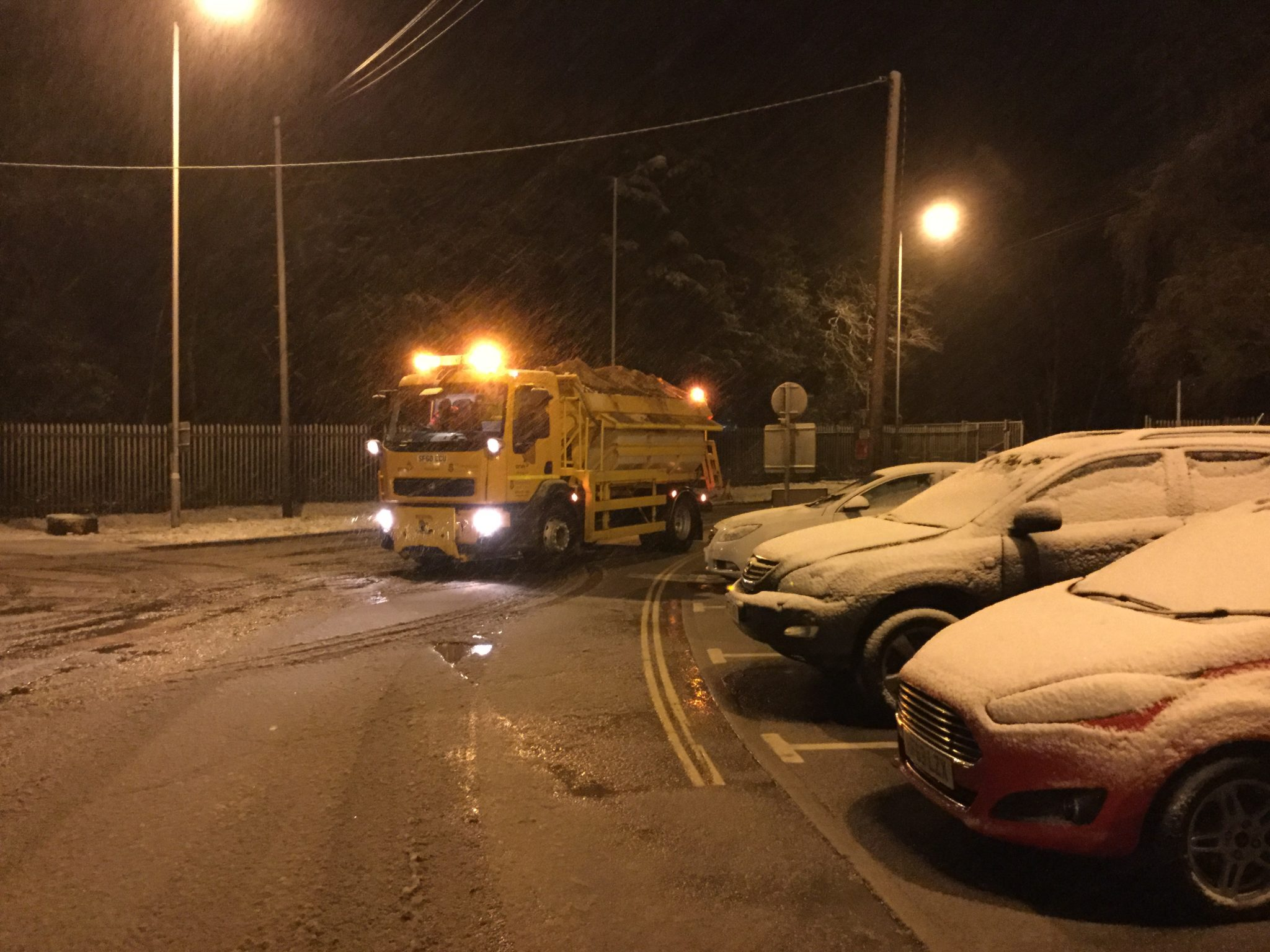 hampshire trials a smart approach to salting roads in winter
