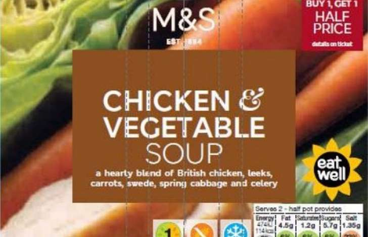 Romsey Good Food Guide | M&S Recall Chicken & Vegetable Soup Over Chemical Contamination Fears | Romsey & Villages