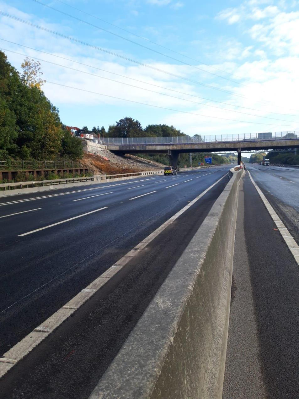 M27 Reopens Ahead of Schedule