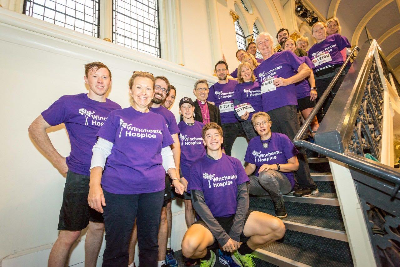 Bishop Supports Marathon Runners