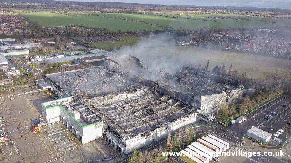 Electrical fault at the hands of Ocado warehouse fire