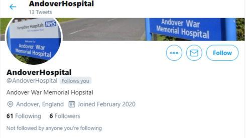 Andover hospital fake Coronavirus updates