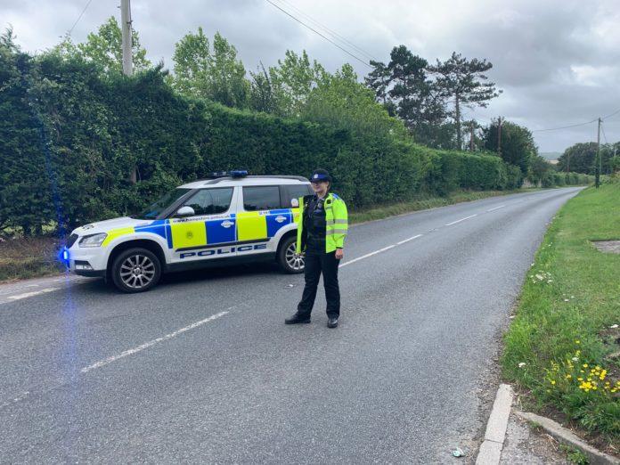 Road closed Stockbridge