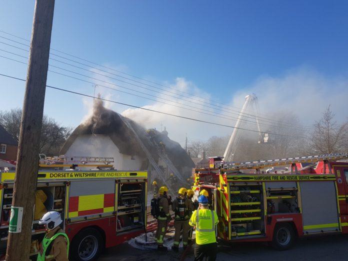 Netheravon thatch fire