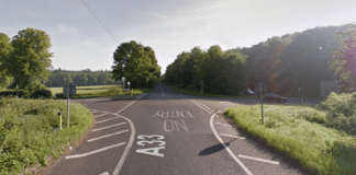 A33 reopened collision