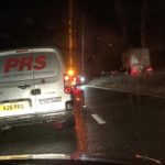 A34 car wrong side of the road