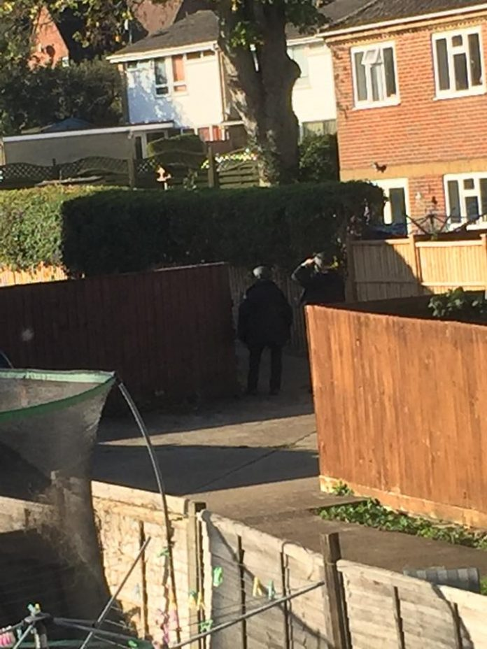 Armed police in Andover