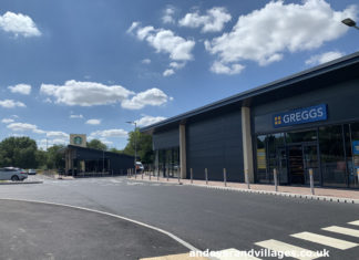 Starbucks and Greggs Walworth Business Park