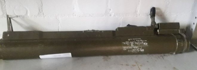 Rocket Launcher handed in during gun surrender.