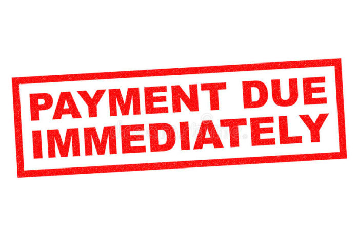 Andover payment Due Immediately